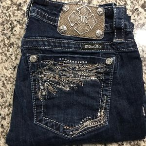 MISS ME SPARKLY BLING JEANS SIZE 29